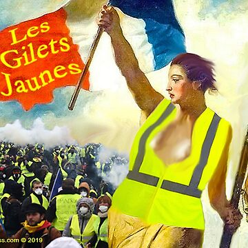 Les Gilets Jaunes - The Yellow Vests by ayemagine