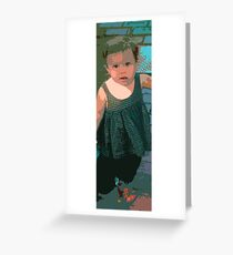 Girl, Marthas Vineyard Greeting Card