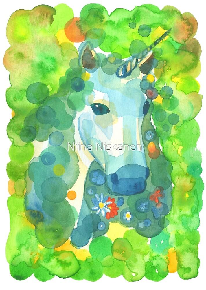 Unicorn of the Enchanted Forest by Niina  Niskanen
