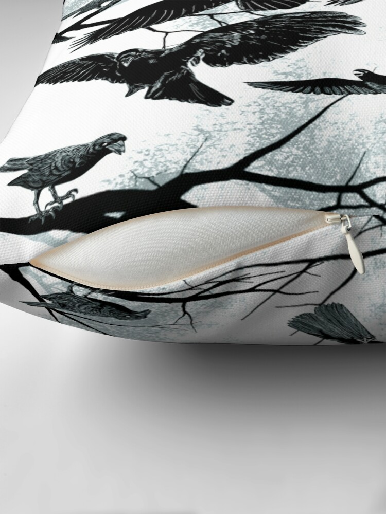 Alternate view of Blackbirds Throw Pillow