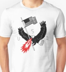 FIRE BREATHING BALD EAGLE OF PATRIOTISM Slim Fit T-Shirt