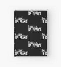 Cuaderno de tapa dura Profesora de español educadora española maestra