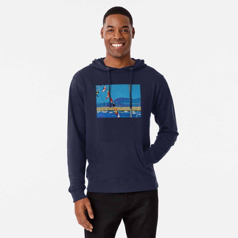 Dún Laoghaire Harbour and Howth Head Lightweight Hoodie