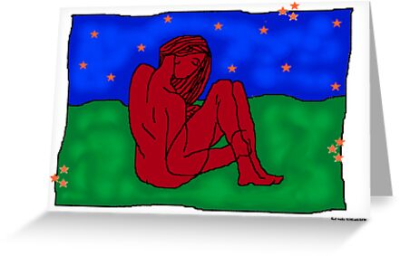 Red nude- digital figure drawing by © Sandra Lock