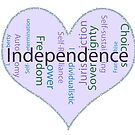 Independence Heart - Keeping It All Together (Blank Background) by SiobhanFraser