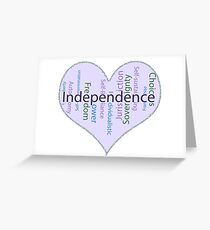 Independence Heart - Keeping It All Together (Blank Background) Greeting Card