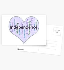 Independence Heart - Keeping It All Together (Blank Background) Postcards