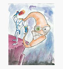 "Earthworm Jim ""Whip It"" Photographic Print"