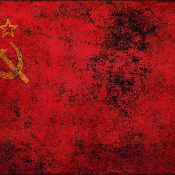 USSR Soviet Union Flag Old Weathered Distressed Worn Grunge Style by BennyBearProof