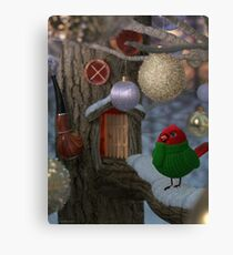 Hubert and the Ornaments Canvas Print