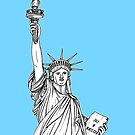 Statue of Liberty ( pale blue version ) by Adam Regester