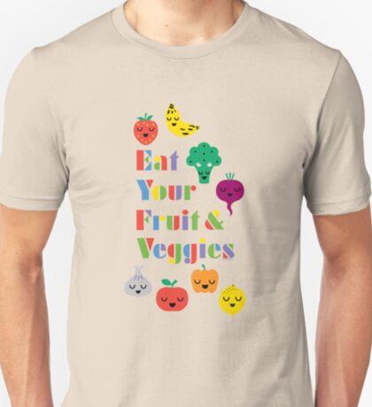 Eat Your Fruit & Veggies lll dark T-Shirt