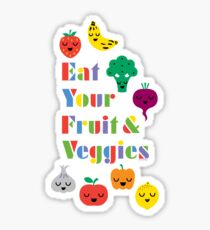 Eat Your Fruit & Veggies lll dark Sticker