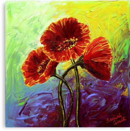 Red Poppy Trio by sesillie