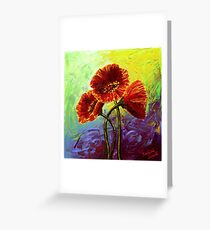 Red Poppy Trio Greeting Card