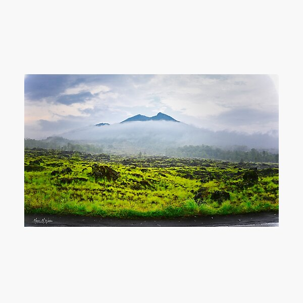 Gunung Batur Volcano, Bali Photographic Print