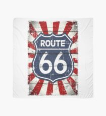 American Route 66 antique style illustration Scarf