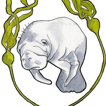 Kelp Manatee by sarawilson