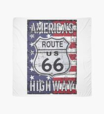 America's Highway Route 66 illustration Scarf