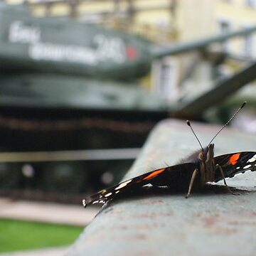 butterfly on a t-32 by khan001