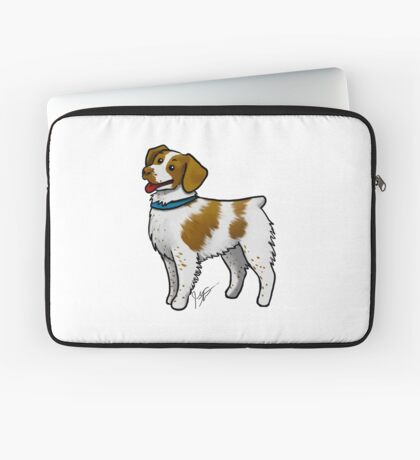 Brittany Spaniel Laptop Sleeve