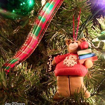 Christmas Bear Ornament by JoeyOConnor