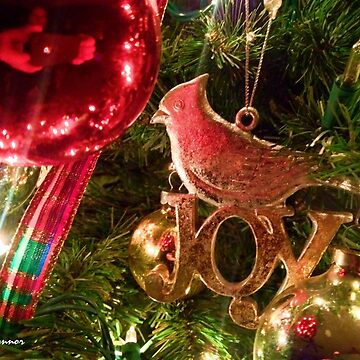 Christmas Joy Bird Ornament by JoeyOConnor