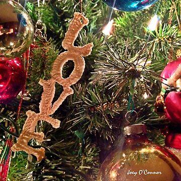 Christmas Love Ornament by JoeyOConnor