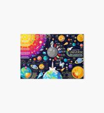 Space Universe Infographics Big Bang Art Board