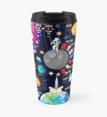 Space Universe Infographics Big Bang Travel Mug