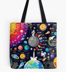 Space Universe Infographics Big Bang Tote Bag