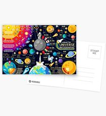Space Universe Infographics Big Bang Postcards