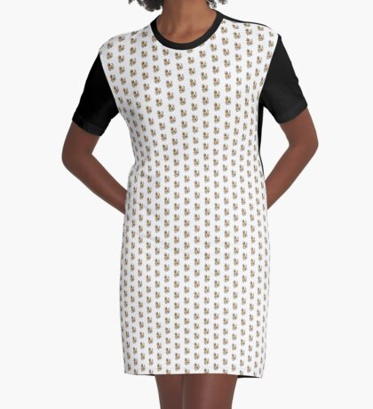 Poodle Brown Graphic T-Shirt Dress