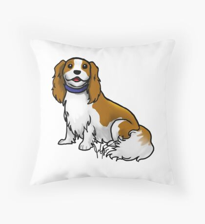 King Charles Cavalier Terrier Throw Pillow