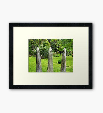 Three Wizards Framed Print