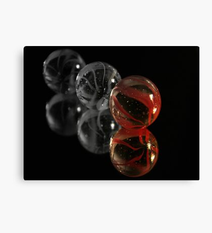 Red Marble Canvas Print