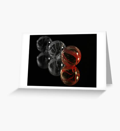 Red Marble Greeting Card