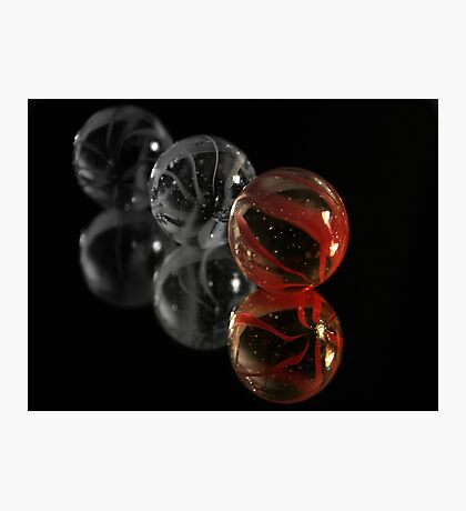 Red Marble Photographic Print