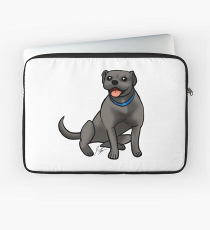 Pitbull - Black Laptop Sleeve