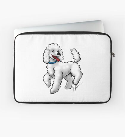 Poodle - White Laptop Sleeve