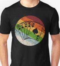 Poker Cards Retro Vintage Sport Hobby Unisex T-Shirt