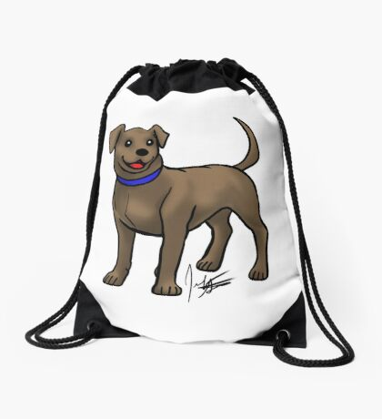 Chocolate Lab Drawstring Bag
