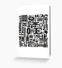 Wood Type Collage Greeting Card