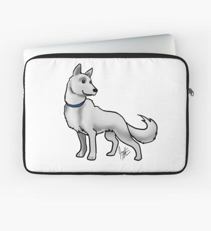 German Shepherd White Laptop Sleeve