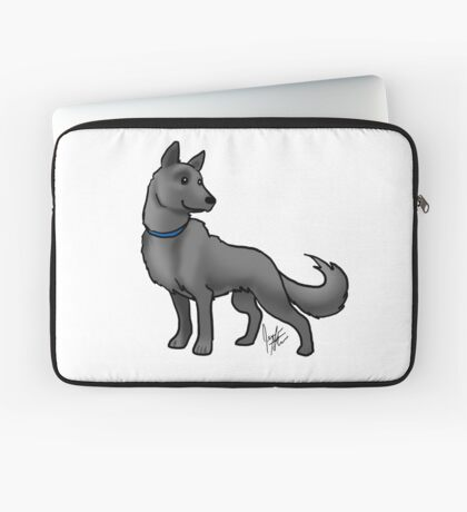 German Shepherd Black Laptop Sleeve
