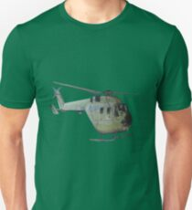 Helicopter Indian Air Force Naive Painting T-Shirt