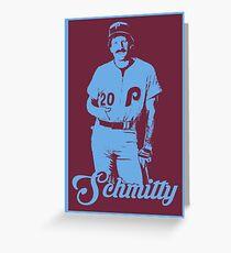 Schmitty - Michael Jack Schmidt - Blue Stencil Greeting Card