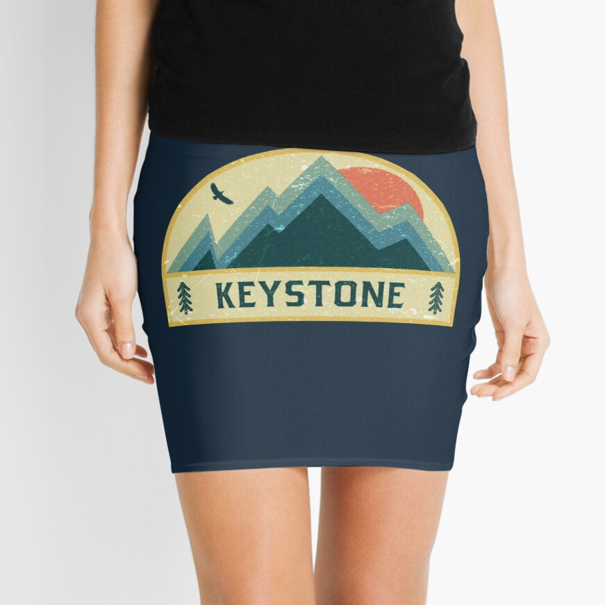 Keystone Retro Berg Abzeichen Minirock