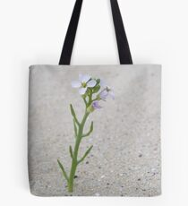 Single Flower Stem Tote Bag