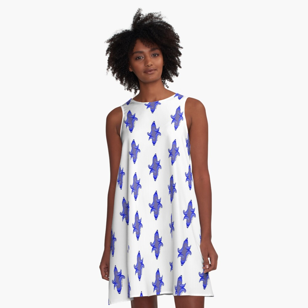 Fortunato No.7 in Royal Blue!  A-Line Dress Front